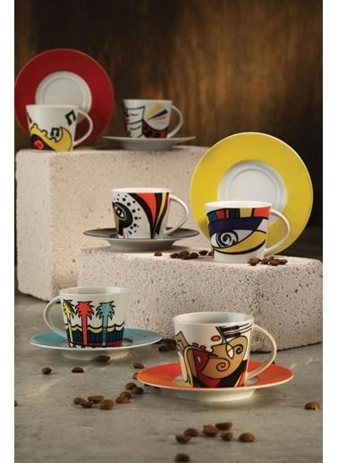 Kütahya Porselen Çay Takımı Renkli